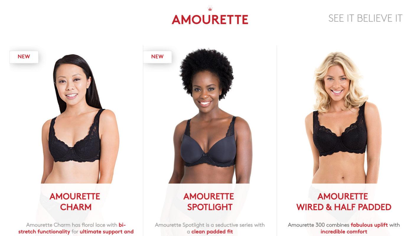 AMOURETTE SEE IT BELIEVE IT Bra Support
