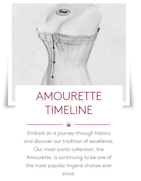 WORLD OF TRIUMPH Amourette Timeline History
