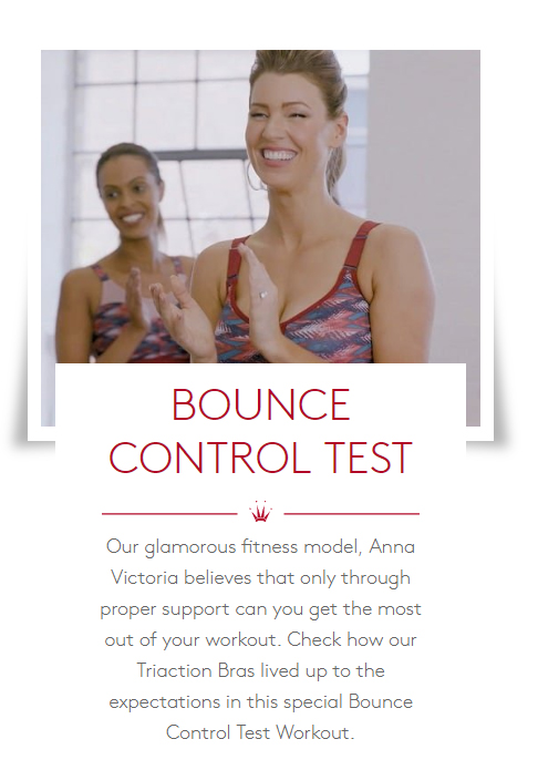 WORLD OF TRIUMPH Bra Bounce Control Test Cardio Sports