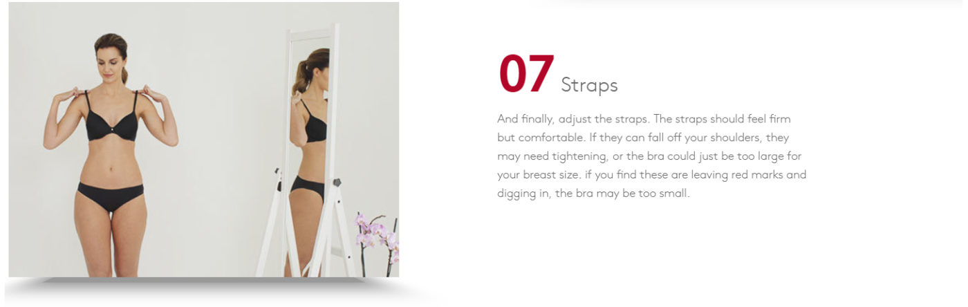 7 STEPS - TO HELP YOU FIND THE PERFECT FITTING BRA