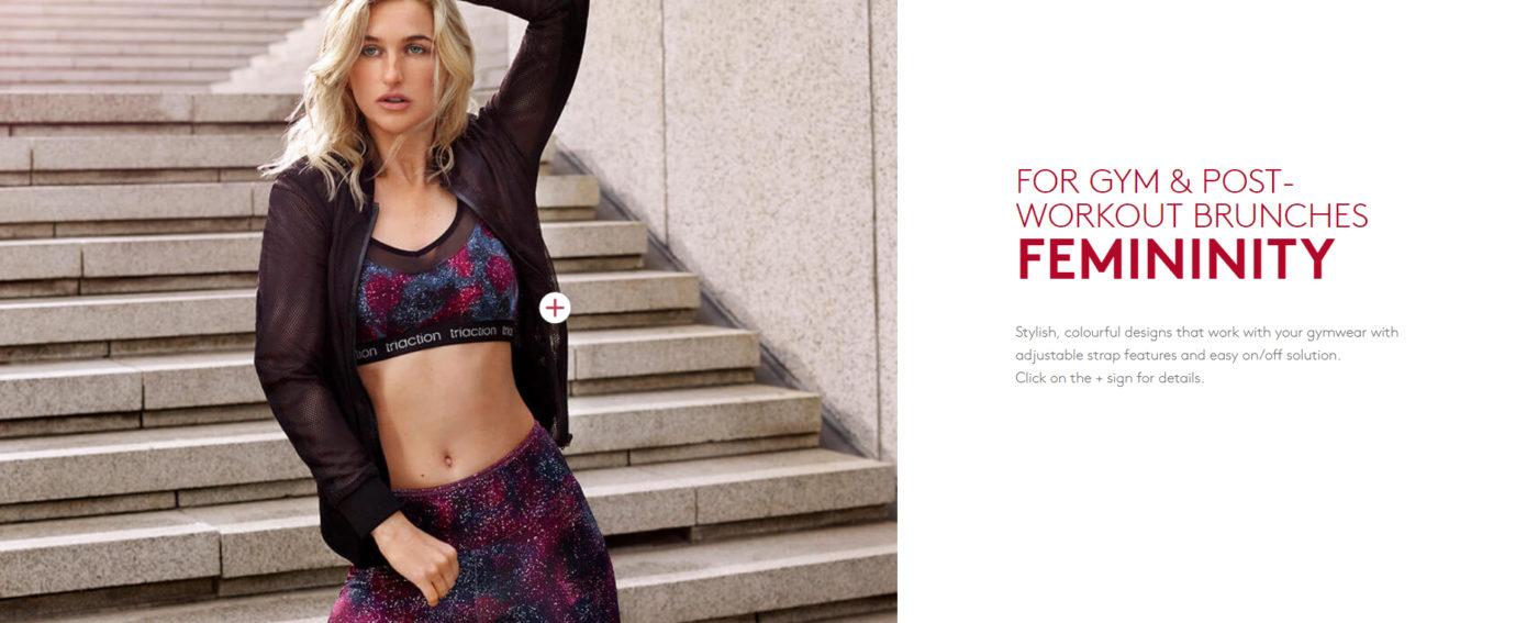 Triaction gym workout femininity